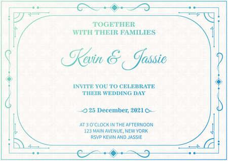 Luxury vintage white vector invitation card template Иллюстрация