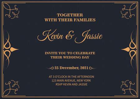 Invitation card vector design vintage style