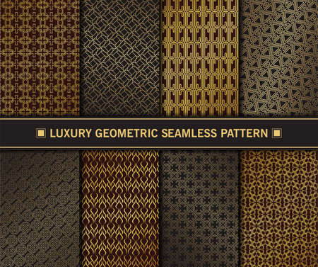 Luxury Geometric seamless pattern set