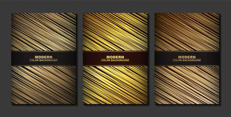 Minimal Cover in Gold. Vector Geometric Abstract Line Pattern for Poster Design. Иллюстрация