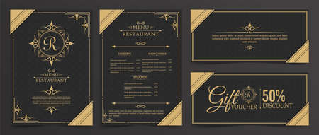 Menu Layout with Ornamental Elements. Иллюстрация