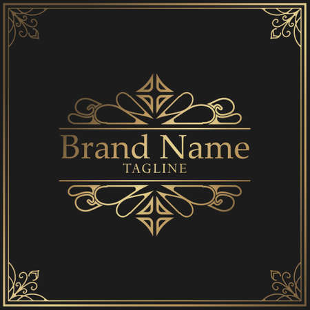 Luxury template flourishes calligraphy elegant ornament lines. Business sign, identity for Restaurant, Royalty, Boutique, Cafe, Hotel, Heraldic, Jewelry, Fashion and other vector illustration
