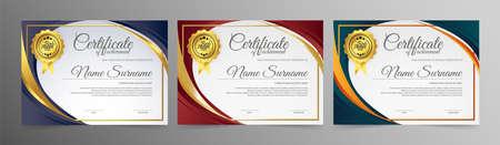 Appreciation certificate best award diploma set. Фото со стока