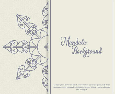 Mandala background with arabesque arabic style eastern arabic style for Wedding cards, book covers.