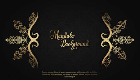 Luxury Mandala background with arabesque arabic style eastern arabic style for Wedding cards, book covers.