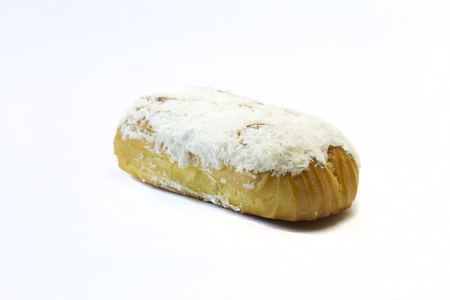 eclair: Eclair on a white background