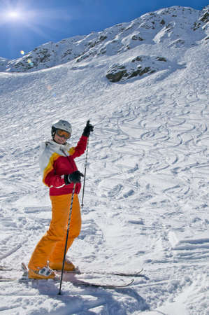 arri�re-pays: Ski nordique Banque d'images