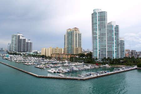 View of Miami marina, Florida. Photo taken september 2014