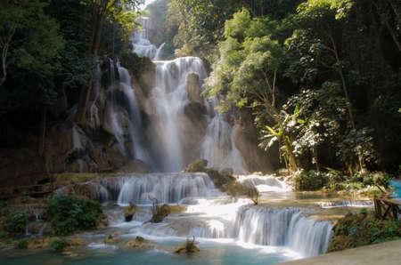 bang: Kouangsi Waterfall ,Luang Pra Bang ,Laos.