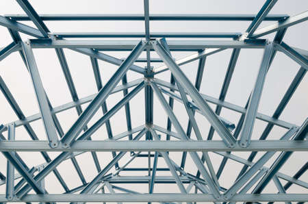 Truss roof for construction Stock Photo