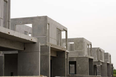 concrete structure: The  building structure are made from prefabrication system.All pieces are made from high-strength concrete.Then assembled into a building.