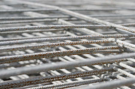 construction mesh: Wire mesh for Construction job. Stock Photo
