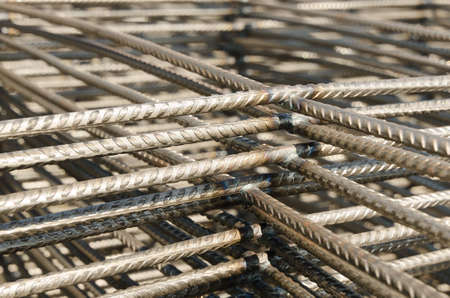 wire mesh: Wire mesh for Construction job. Stock Photo