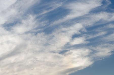 dreamlike: White cloud and blue sky in the rainy season.