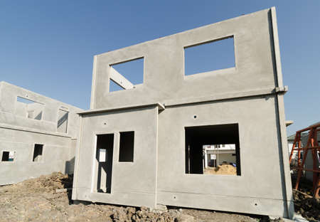 concrete construction: The  building structure are made from prefabrication system.All pieces are made from high-strength concrete.Then assembled into a building.