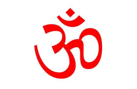 yantra: Om symbol isolated on white background. Stock Photo