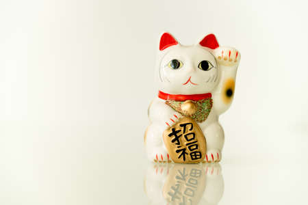 maneki neko: Japanese beckoning cat (Maneki Neko) also means bring wealth to you while a right paw raised, currency sign for you to replace.