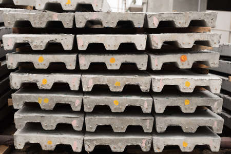 slabs: Prestressed concreat slabs, used for construction job.