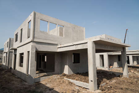 home addition: The  building structure are made from prefabrication system.All pieces are made from high-strength concrete.Then assembled into a building.