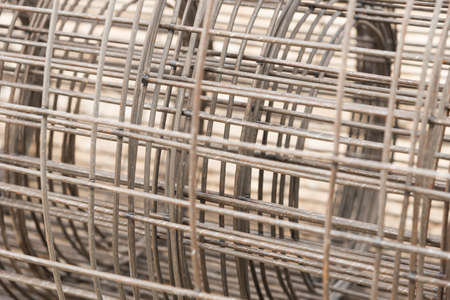 wire mesh: Rolls of wire mesh for use in construction job. Stock Photo