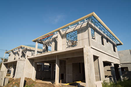 building feature: The  building structure are made from prefabrication system.All pieces are made from high-strength concrete.Then assembled into a building.