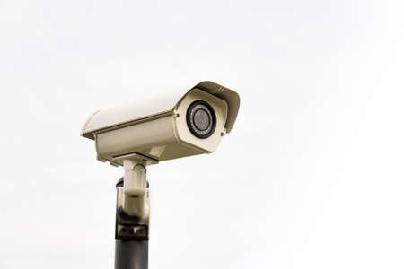 paranoia: CCTV security camera, Isolated on white background