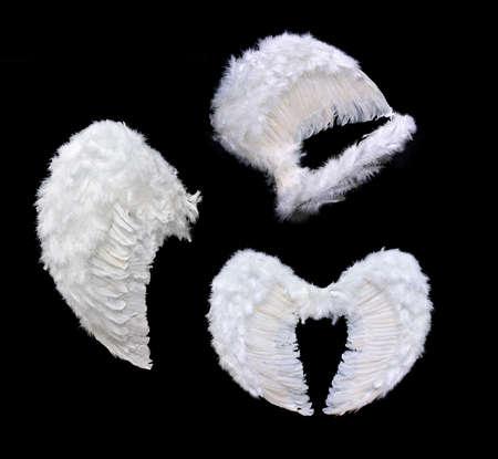 Witte engelenvleugels Stockfoto