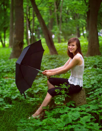 Girl with umbrella Stock Photo - 10416811