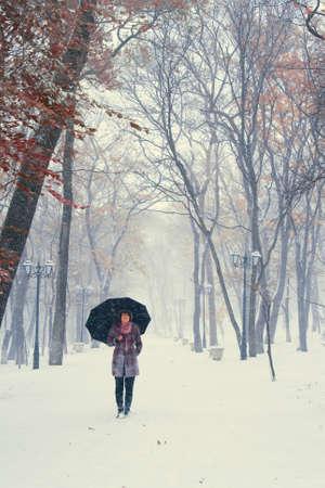 Snow walking Stockfoto