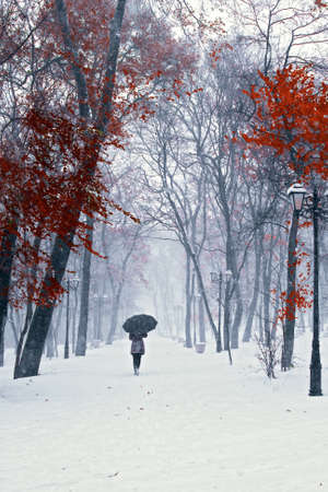 Snow walking Stock Photo - 10417828