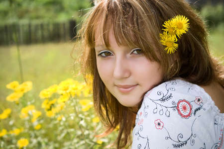 Solar girl photo