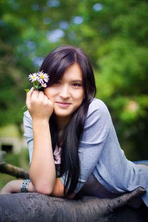 Portrait of asian girl photo