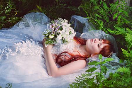 dead woman: Bride Portrait