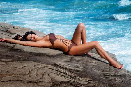 human sexual activity: Woman near the sea