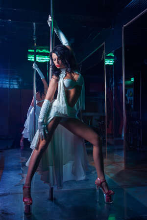 Pole dance woman photo