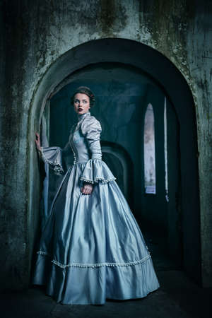 princess dress: Woman in victorian dress