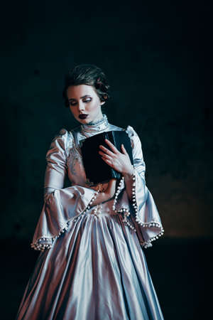 Woman in victorian dress photo