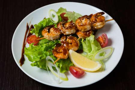 Appetizing grilled shashlik photo