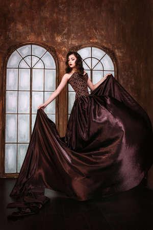 Mooie vrouw retro portret