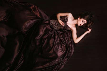 美しい女性のレトロな肖像画 写真素材