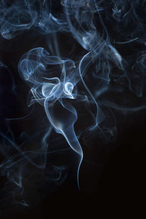 black smoke: Abstract white smoke on black background. Close-up