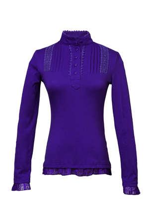 turtleneck: Purple female turtleneck isolated on white background