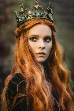 Gember koningin in de buurt van het kasteel Stockfoto