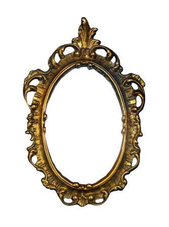Gouden vintage lijst voor schilderij of spiegel Stockfoto