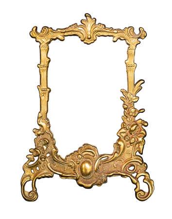 Cornice vintage dorata per pittura o specchio or Archivio Fotografico