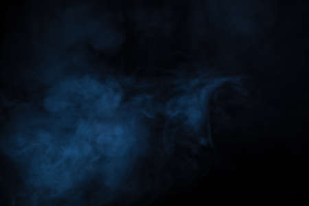 Abstract Smoke on black Background Banco de Imagens