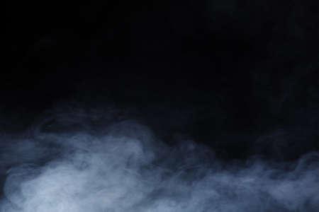 Abstracte rook op zwarte achtergrond Stockfoto