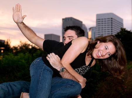 Young Couple Lifestyle having fun photo