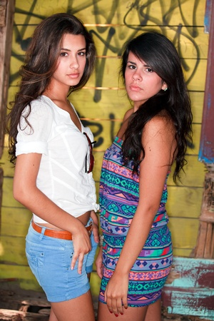 cuban women: Pretty Multicultural Young Women Outdoor Lifestyle
