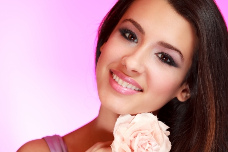 european ethnicity: Beautiful Multicultural Young Woman in a Studio Glamour Pose